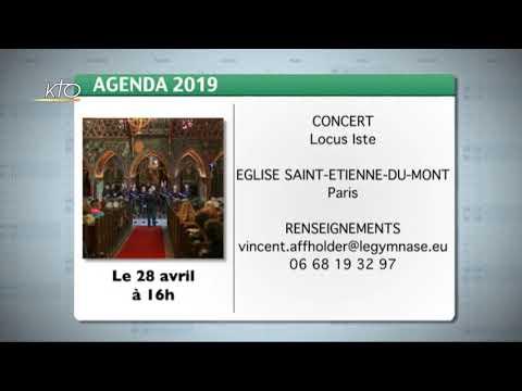 Agenda du 15 avril 2019