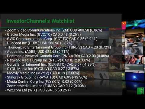 InvestorChannel's Media Watchlist Update for Wednesday, Au ... Thumbnail