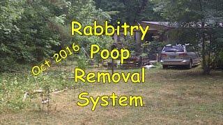 Rabbitry Poop Removal System