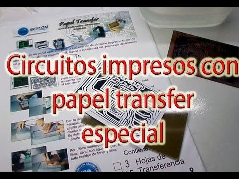 papel transfer especial para diseño de circuitos impresos