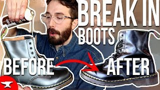 How To Break In DOC MARTEN BOOTS - (Fast) - Dr Martens Break In Tutorial