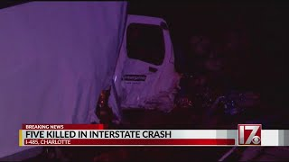 5 dead in crash along NC interstate