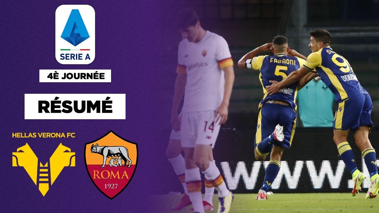 Résumé : Des tops buts et un premier revers pour la Roma de Mourinho