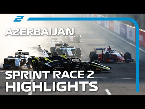 F2 アゼルバイジャンGP 市街地コースで行われるあアゼルバイジャンのレース2ハイライト動画