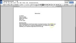 How to Create a Basic Memo