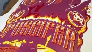 AJ Masthay Puscifer Gigposter Process