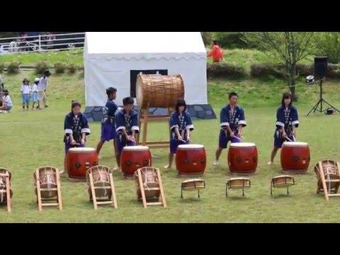 第38回作手古城まつり 《作手中学校の和太鼓演奏》