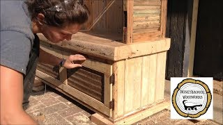 Woodworking : DIY Hall Tree Storage Rack // How-To Part 3