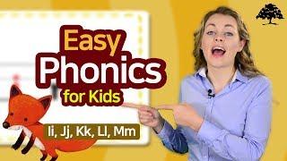 Easy Phonics 1 (Unit 3 Ii, Jj, Kk, Ll, Mm) | Phonics for Kids | Alphabet | Learn to Read