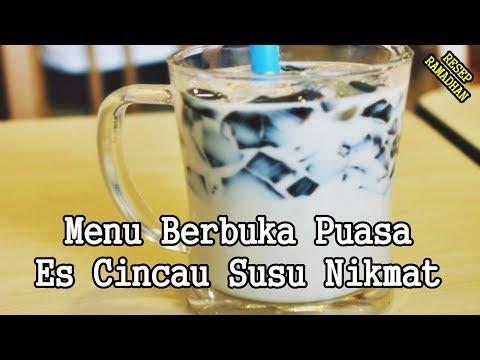 Video Minuman Buka Puasa - Resep Cara Membuat Es Cincau Susu Nikmat