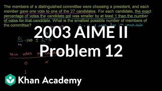 2003 AIME II Problem 12