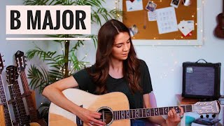 B major chord | Easy Beginner Lesson with 2 shapes!