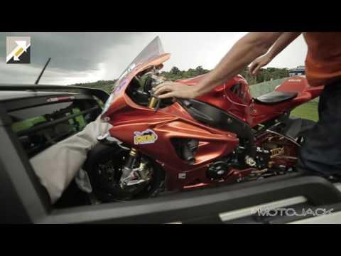 Sistema MOTOJACK para o transporte correto e seguro de motos