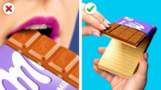 ESCUELA! IDEAS & SUPER HACKS |  TRUCOS DIY CON CHOCOLATE, UNICORNIOS, Y SUPERHÉROES