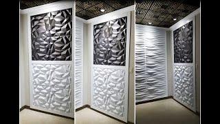 How to Install 3D Wall Panels - Iceberg Wall Panels - Beautiful 3D Wall Decor - Talissa Decor