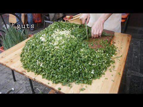 上海提篮桥老摊头葱油饼一号 Chinese Green Onion Pancakes China Shanghai