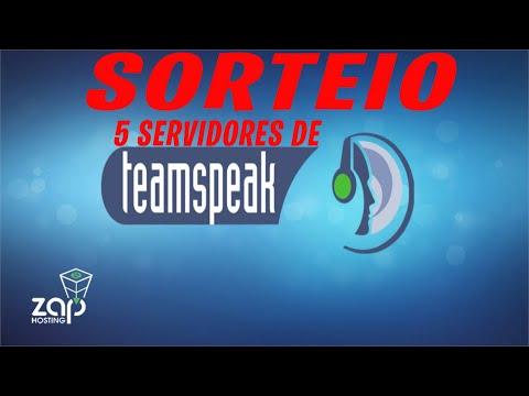 sorteio de 5 servidores de teamspeak 3 ts3