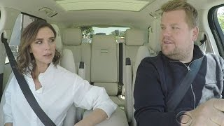 Victoria Beckham Channels Posh Spice in Carpool Karaoke During Hilarious