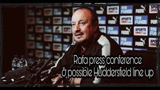 Rafa Benitez's press conference | How will we line up against Huddersfield?