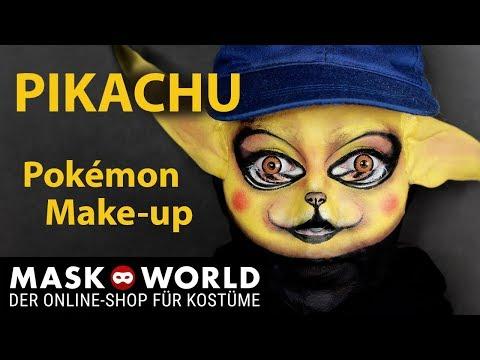 Pokémon Detective Pikachu, Pikachu Make-up tutorial, Schminktipp Pikachu