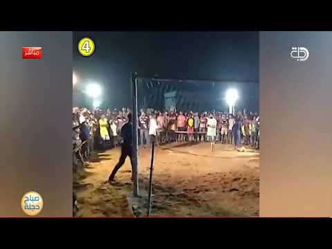 شاهد بالفيديو.. لقطة نادرة .. تستحق المشاهدة  حارس مرمى يتصدى بمهارة للكرة