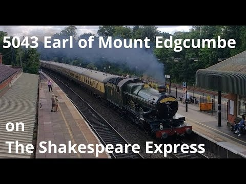 GWR 5043 'Earl of Mount Edgcumbe' at Dorridge with 'The Shak…