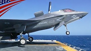F-35B Stealth Fighters Flight Ops on Amphibious Assault Ship