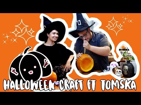Halloween Crafting With My Boyfriend | Ft. TomSka