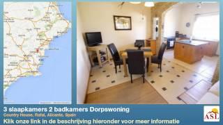 preview picture of video '3 slaapkamers 2 badkamers Dorpswoning te Koop in Country House, Rafal, Alicante, Spain'