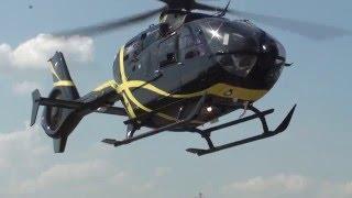"""Вертолет Eurocopter EC-135 """"ЧелАвиа"""" (посадка-взлет)"""