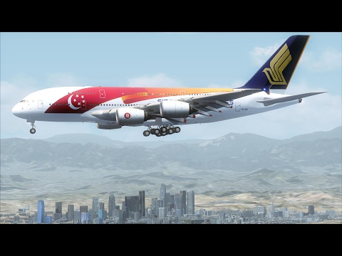 FSX A380 Bangkok to Los Angeles via Tokyo (Full version) [AMAZING
