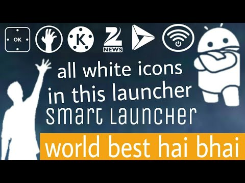 Best launcher 2017! How to download all white PNG icons