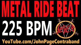 Metal Ride Beat 225 bpm Slayer Style Drums Only Track Loop