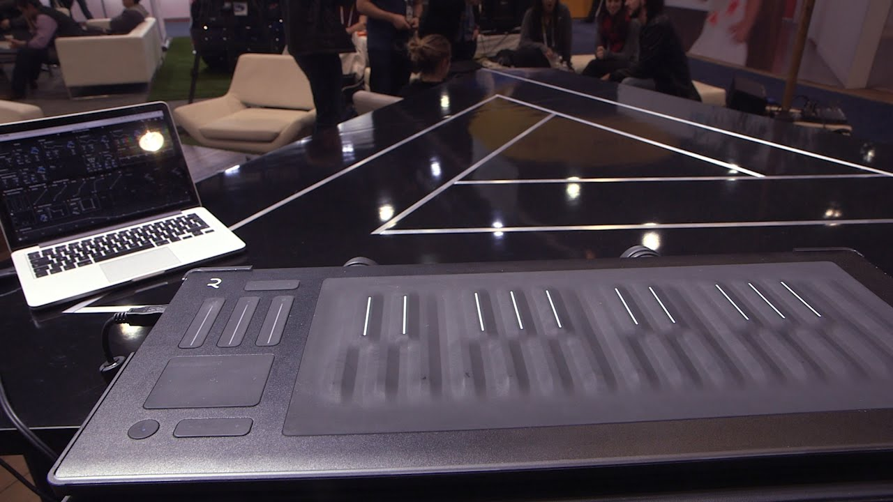 This touch sensitive keyboard lets piano players shred — CES 2016 thumbnail
