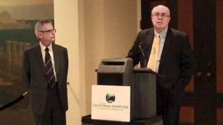 California Senator Alan Lowenthal Accepts California Maritime Leadership Symposium Award