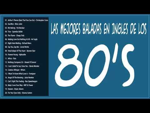 Las Mejores Baladas en Ingles de los 80 Mix ♪ღ♫ Romanticas Viejitas en Ingles 80&#39s