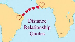 Distance Doesnt Matter When Love Is True | Relationship Quotes