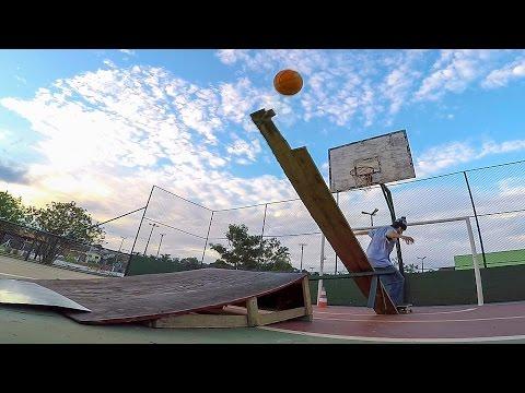 GoPro: Epic Skate Basketball Trick Shot – Winner of April 2016 Skateboarding is Fun