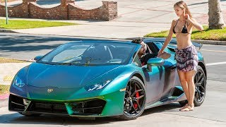 PICKING UP UBER RIDERS IN A LAMBORGHINI HURACAN PRANK 2! | HoomanTV