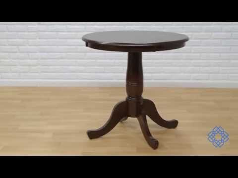 International Concepts Inch Tall Inch Round Top Rich Mocha - High top pedestal table