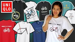 2019 UNIQLO Bicycle T-Shirt Collection - Bianchi, BMC, Giant, Colnago