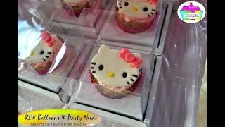 Hello Kitty Themed Balloon Decor, Cake And Cupcake Decorating Ideas