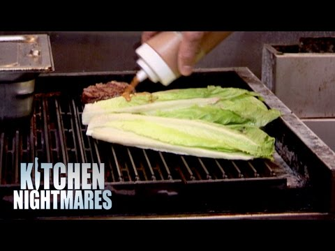 Chef Serves Gordon Grilled Lettuce - Kitchen Nightmares