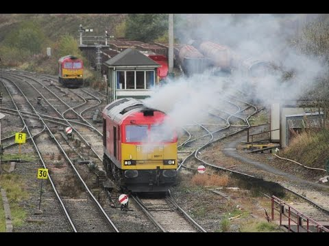 Freight movements at Peak Forest 22nd October 2015