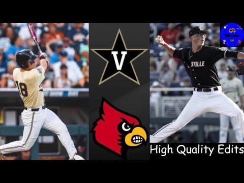 #2 Vanderbilt vs #7 Louisville College World Series Clinching Game | College Baseball Highlights