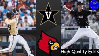 #2 Vanderbilt vs #7 Louisville College World Series Clinching Game   College Baseball Highlights