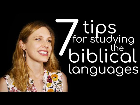 Hebrew - Seven tips for studying Biblical languages - Free Biblical Hebrew