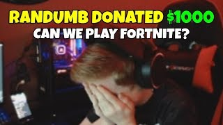 i gave $$$ to twitch streamers to play fortnite with me... (tiny emotional)