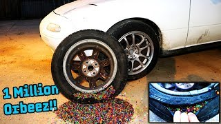We Filled Our Tires With a MILLION ORBEEZ!!
