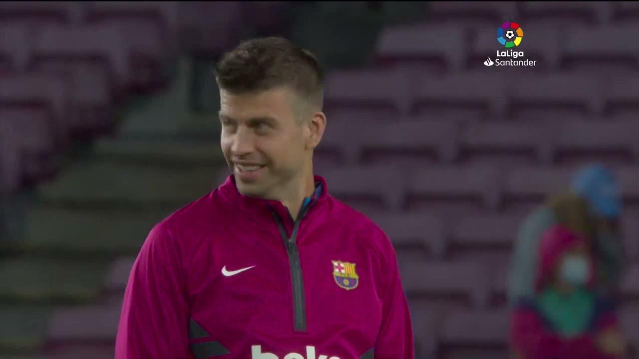 Calentamiento FC Barcelona vs Granada CF